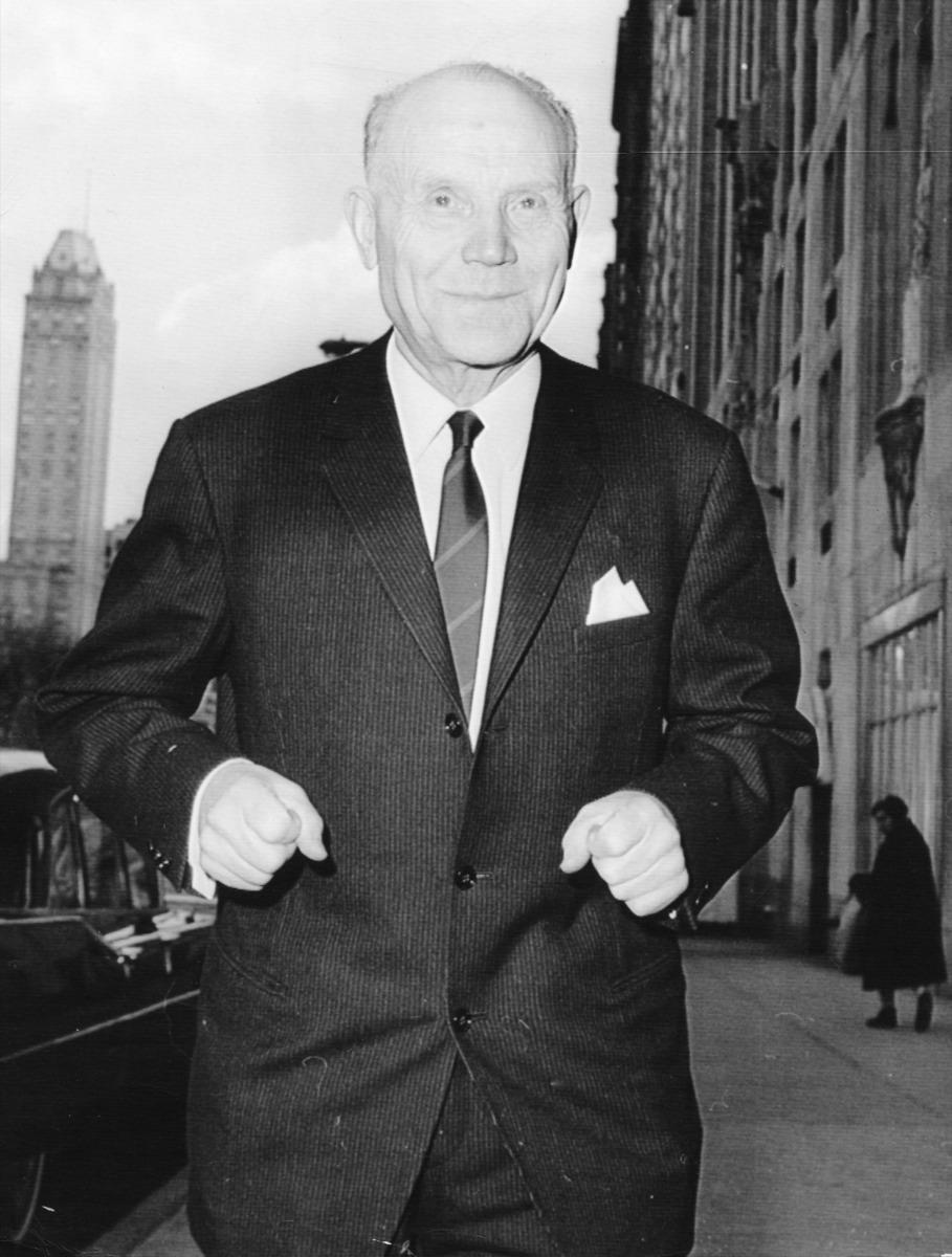 Nurmi podczas wizyty w Nowym Jorku w 1996 r.